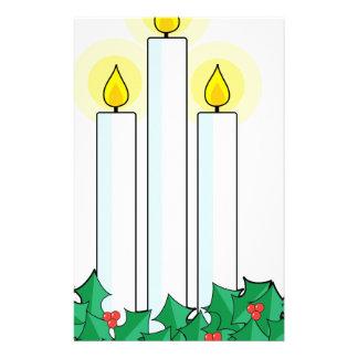 Papelaria velas do Natal