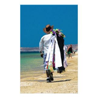Papelaria Vendedor na praia
