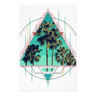 Papelaria Verão geométrico Palm Beach do calif do vintage