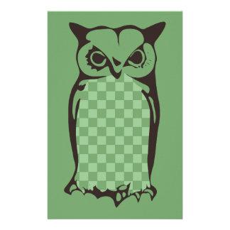 Papelaria Verde Artigo de papelaria-Amarelo da coruja do