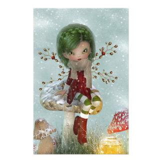 Papelaria verde do inverno