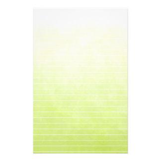 Papelaria Verde limão macio de Varigated com linhas