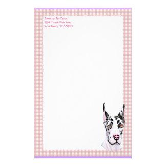 Papelaria Verificação do rosa do filhote de cachorro do