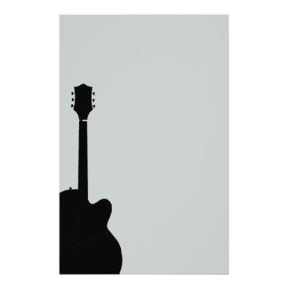Papelaria vetor da guitarra da rocha