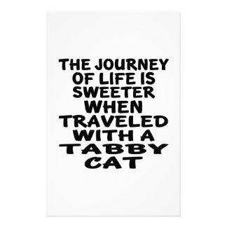 Papelaria Viajado com gato de gato malhado