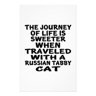Papelaria Viajado com o gato de gato malhado do russo
