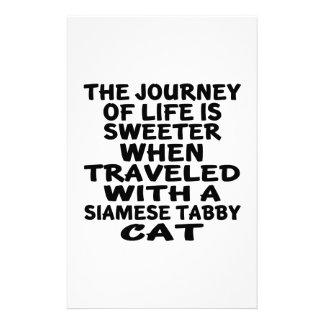 Papelaria Viajado com o gato de gato malhado Siamese
