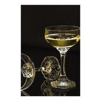 Papelaria vidros do champanhe