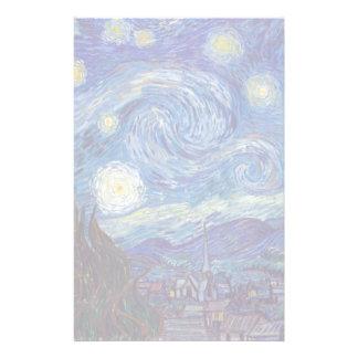Papelaria VINCENT VAN GOGH - noite estrelado 1889
