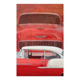 Papelaria Vintage branco vermelho de Dodge do Bel Air