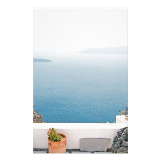Papelaria Vista na ilha de Santorini