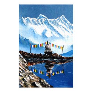 Papelaria Vista panorâmica da montanha Nepal de Annapurna