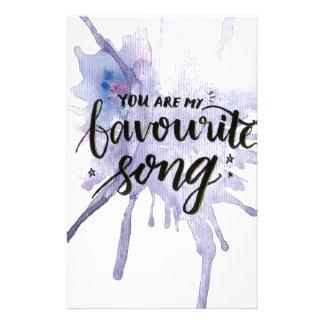 Papelaria Você é minha canção favorita