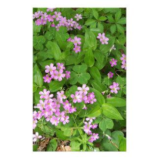 Papelaria Wildflowers delicados cor-de-rosa pequenos