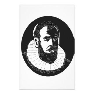 Papelaria Woodcut do explorador de Henry Hudson
