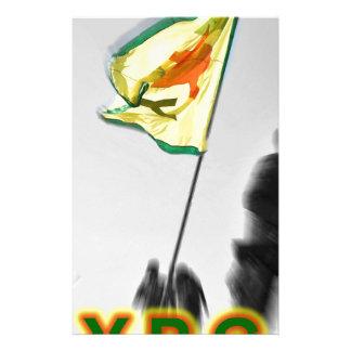 Papelaria YPG - Lutadores curdos da liberdade de Kobani