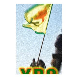 Papelaria YPG - Lutadores curdos da liberdade de Kobani v2