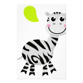 Papelaria Zebra bonito das crianças