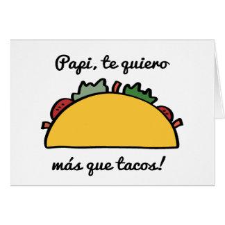 Papi, cartões do dia dos pais do Tacos de Quiero
