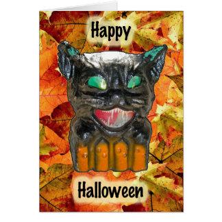 Papier - cartão do gato do Dia das Bruxas do mache