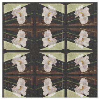 Papoila branca com tecido do design geométrico