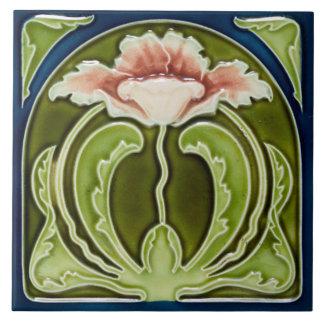Papoila cor-de-rosa de Nouveau da arte da