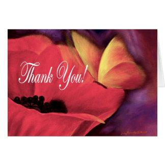 Papoila da borboleta dos cartões de agradecimentos