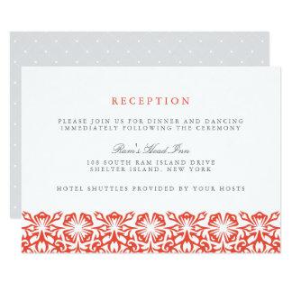 Papoila do cartão | da recepção de casamento de convite 8.89 x 12.7cm