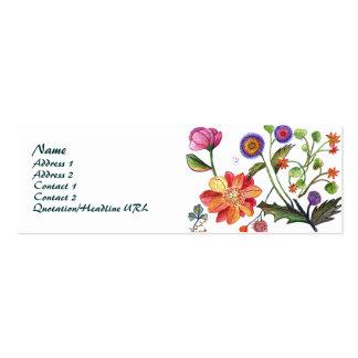 Papoila e no. cor-de-rosa 2 do cartão de visita