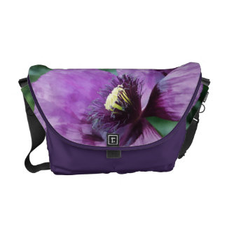 Papoila roxa/papoila violeta bolsas mensageiro