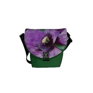 Papoila violeta bolsa mensageiro