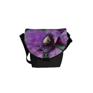 Papoila/violeta roxas bolsas mensageiro
