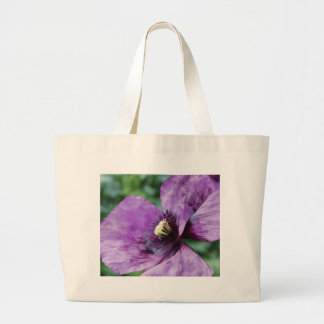 Papoila violeta sacola tote jumbo