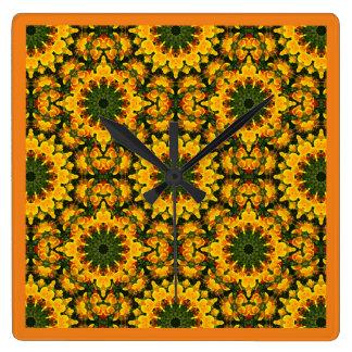 Papoilas californianas, natureza, estilo 006,6 da relógio quadrado