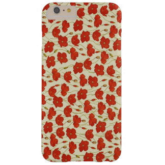Papoilas do vintage capas iPhone 6 plus barely there