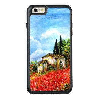 PAPOILAS EM TOSCÂNIA/paisagem com campos de flor