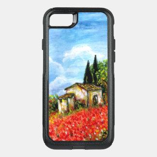 PAPOILAS EM TOSCÂNIA/paisagem com campos de flor Capa iPhone 8/7 Commuter OtterBox