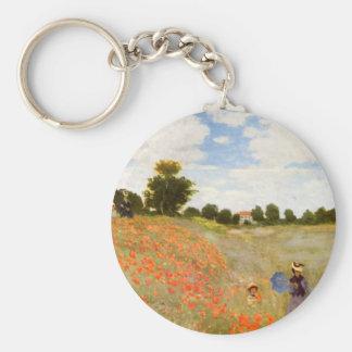 Papoilas selvagens de Claude Monet Chaveiros