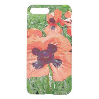 Papoilas vermelhas capa iPhone 7 plus