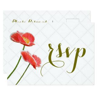 Papoilas vermelhas personalizadas que Wedding o Convite 8.89 X 12.7cm