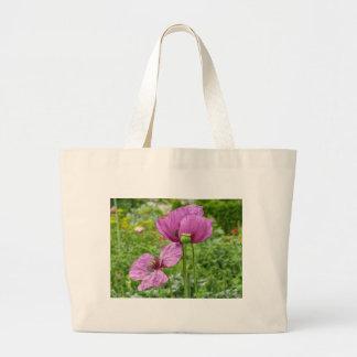 Papoilas violetas/papoilas roxas sacola tote jumbo
