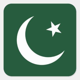 Paquistão/bandeira paquistanesa adesivo quadrado