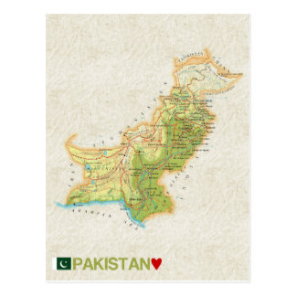 ♥ Paquistão dos CARTÃO do MAPA