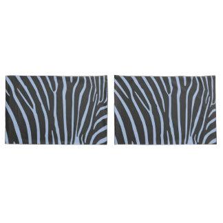 Par de capas com listras de zebra