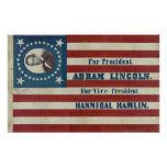 Para a bandeira da campanha eleitoral do president posteres