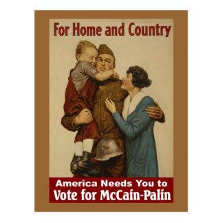 Para a casa e o país - cartão