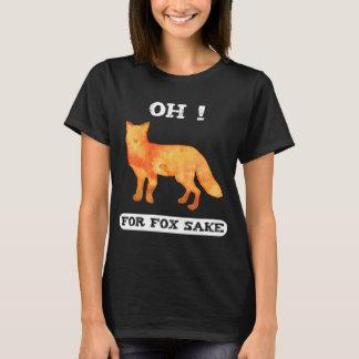 Para a causa da raposa camiseta