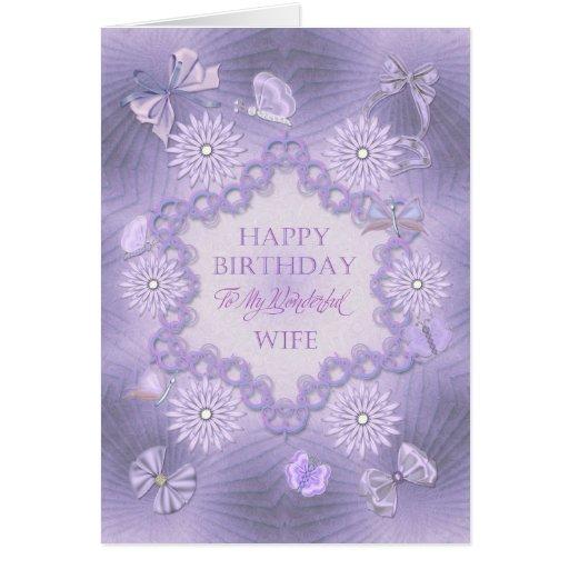 Para a esposa, cartão de aniversário sonhador do