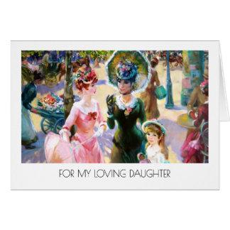 Para a filha em cartões das belas artes do dia das