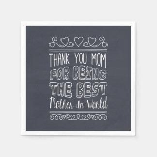 Para a melhor mamã no guardanapo do mundo |